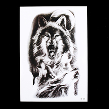 1pc Fake Tattoo Temporary Hot Moon Wolf Howl Picture HB320 Design Cool Women Men Body Back Arm Art Tattoo Sticker Decor