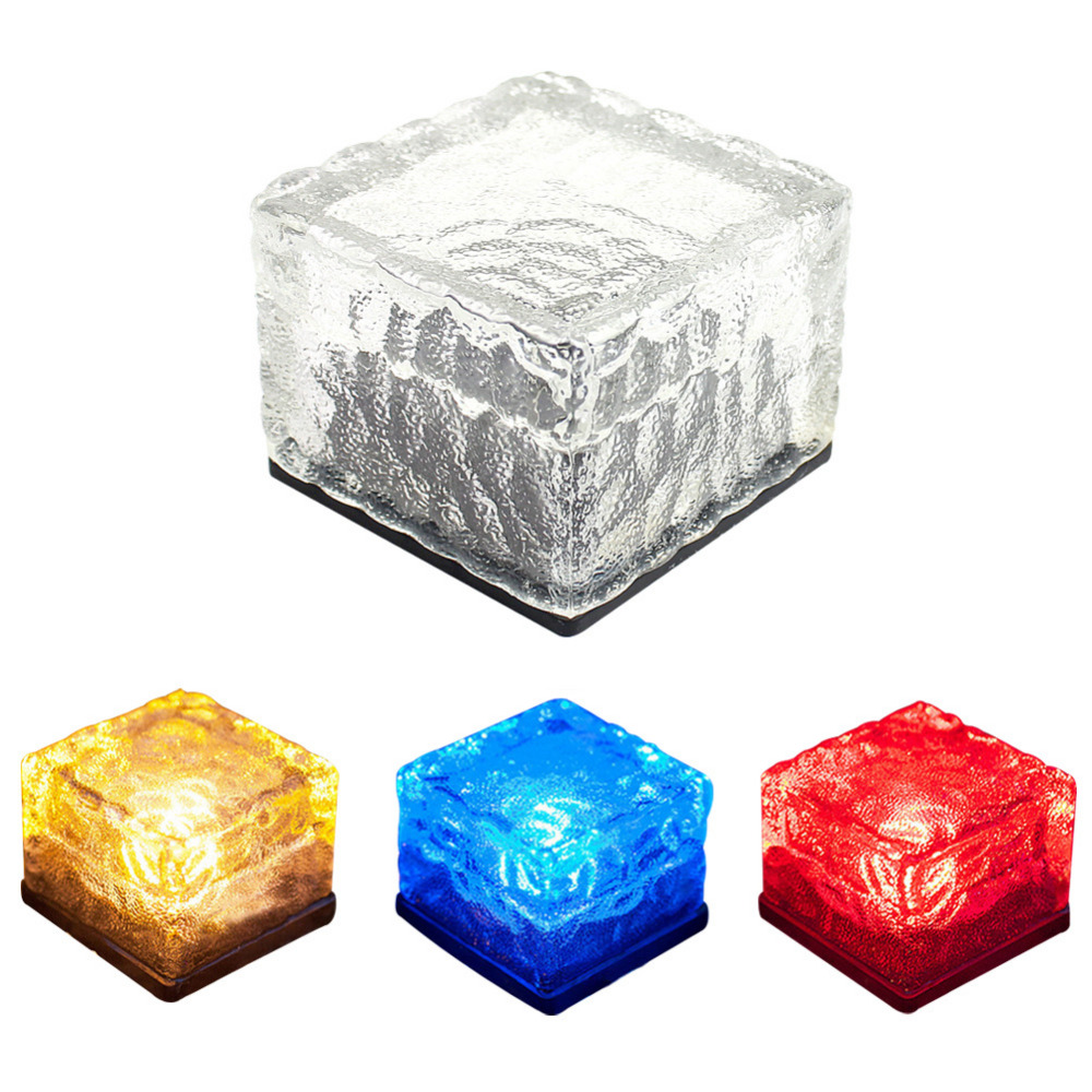 Fashion Waterproof Solar Path Ice Cube Rocks Led Frosted