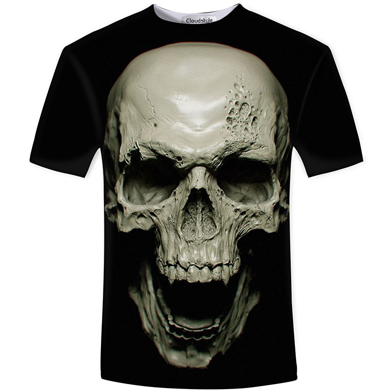 HTB1 J57SFXXXXbNXpXXq6xXFXXXh - Men's New Fashion 2018 - Quality 3D Skull Print Design Stylish Casual T-Shirt