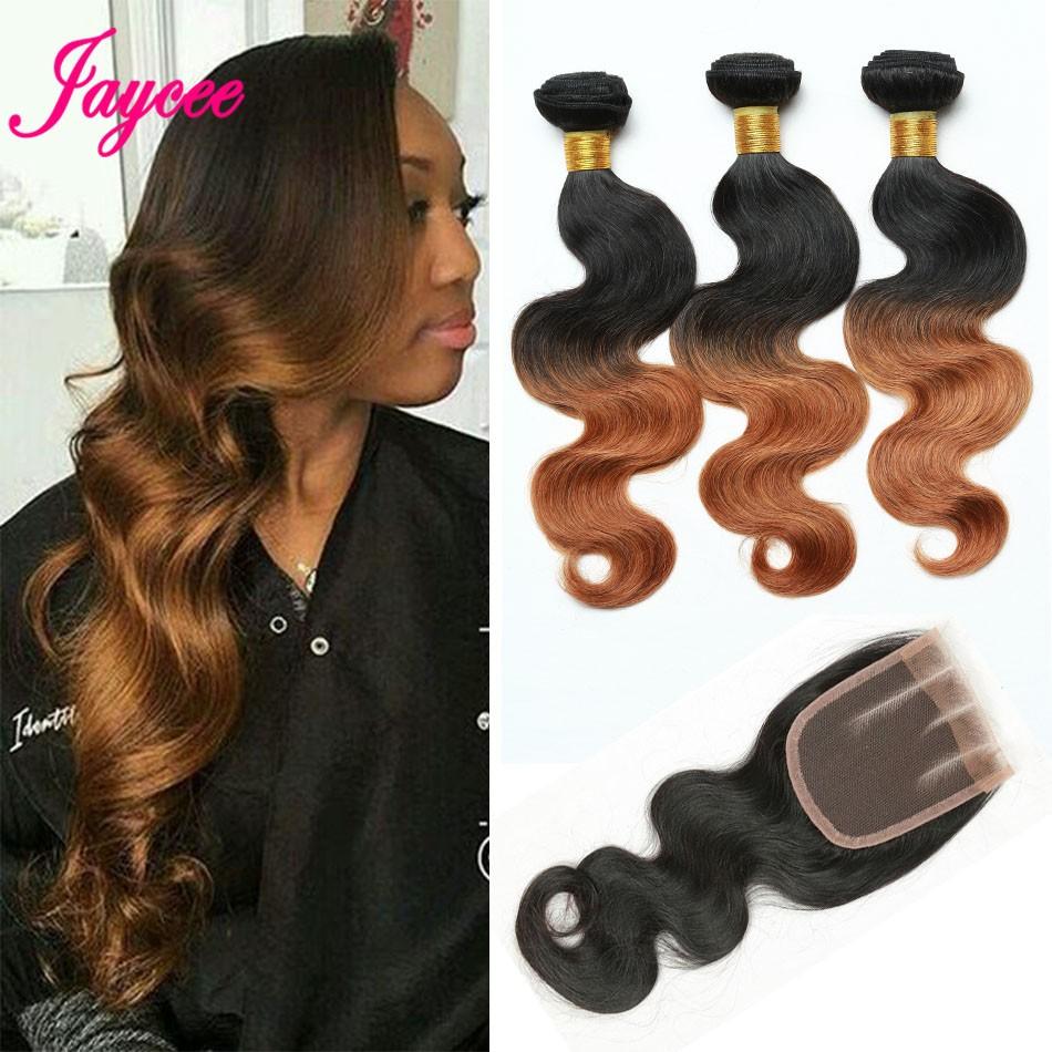 50% off Ombre Brazilian Hair 1B 30 Body Wave human hair Weave 4Bundles Dark Root Ombre Brown Brazilian Body Wave Human Hair Weft