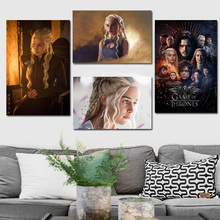 Emilia Clarke Game Of Thrones Art  Canvas Painting Print Living Room Home Decor Modern Wall Oil Posters Pictures HD