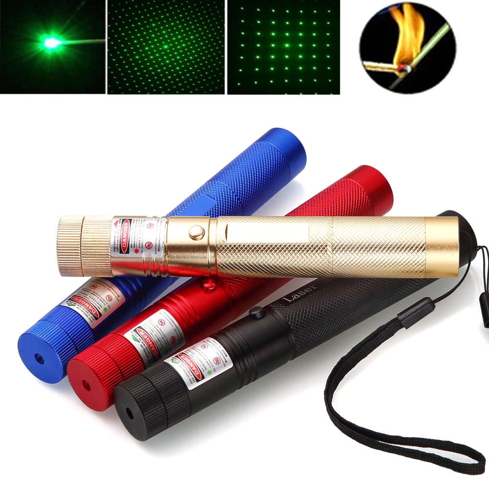 5mW Green Laser Pointer High-Power 532nm Laser 303 Pen Lazer Sight Adjustable Burning Match With Rechargeable Not Included 18650