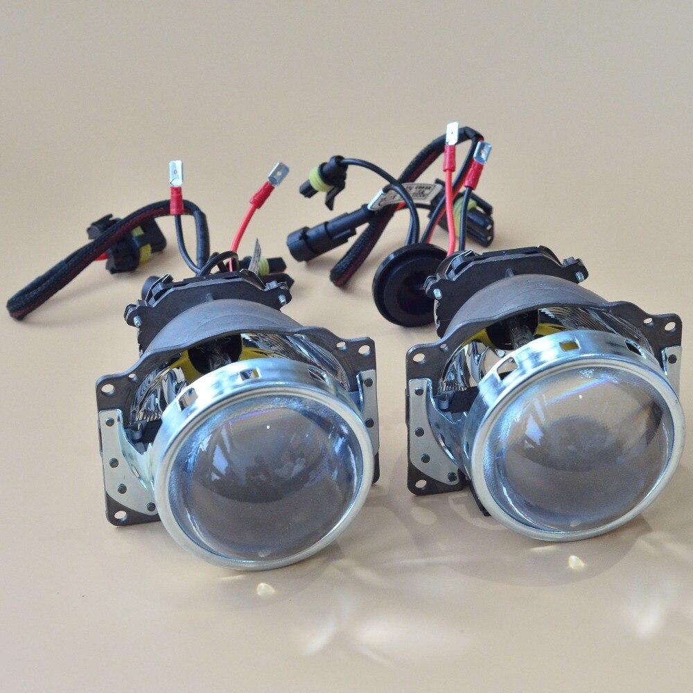 ФОТО Free Shipping 2015 New 3.0 Koito Q5 Bi-xenon Projector Lens Headlights with Heartray D2H bulb Bright HID Car Light Retrofit