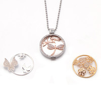 Somsoar Jewelry My Coin Necklace With 1 Set Dragonfly Pendant And 2pcs Extra Deluxe Coin Disc