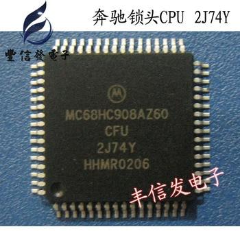 10PCS/LOT  MC68HC908AZ60CFU 2J74Y  QFP64  Car chip car IC