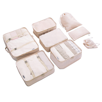 8 pcs/set Folding Travel Packing Cubes Travel Accessories Organizer Traveler Accessorie Durable Polyester Packing Organizers