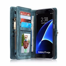 CaseMe Luxury Leather Cover Case for Samsung Galaxy S8 Plus Case Wallet Flip Phone Cases Coque for Samsung Galaxy S7 edge Case