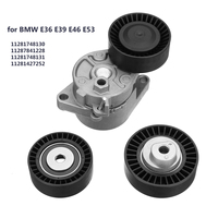 Set of Belt Tensioner + Idler Pulley Kit Replacement for BMW E36 E39 E46 E53 11287841228