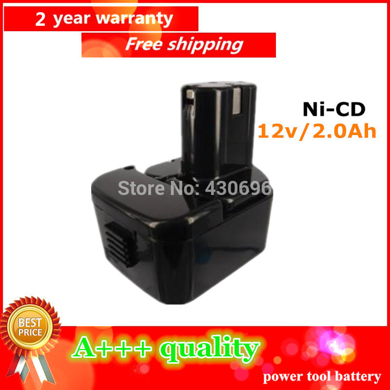 NEW 12v 2 0Ah Ni cd Replacement power tool battery for HITACHI EB1212S 1214L 1214S 1230X