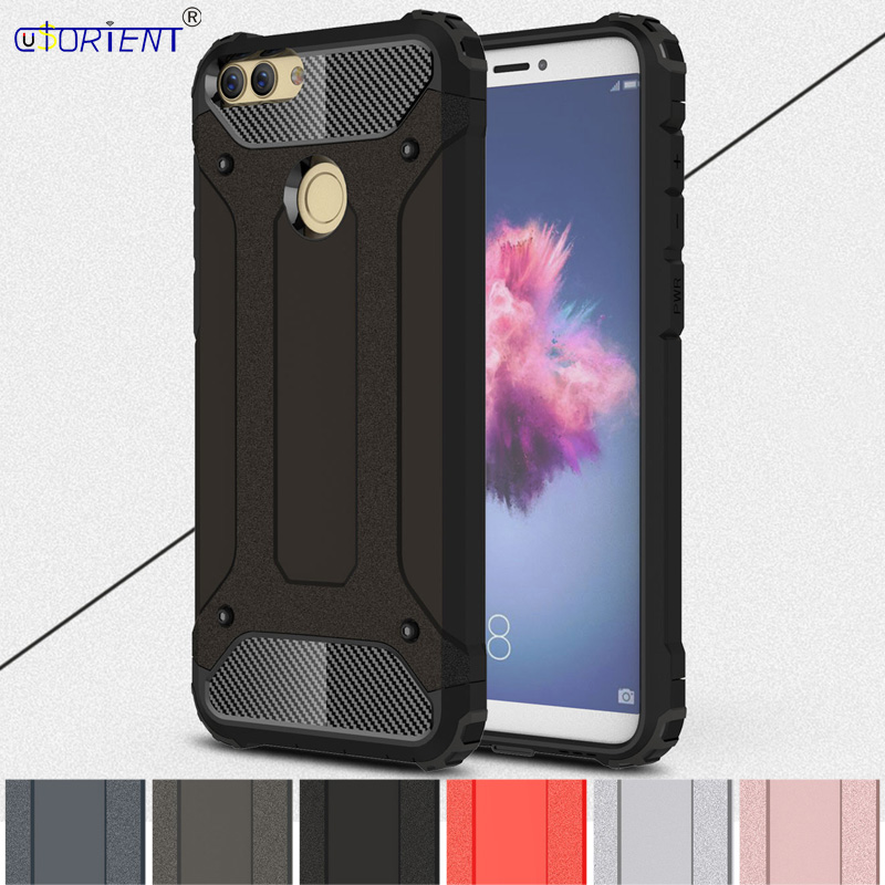 Hybrid Armor Fitted Cases for Huawei <font><b>P</b></font> <font><b>Smart</b></font> FIG-LX1 FIG-LX2 Case Phone Cover for Huawei Enjoy 7S FIG-l21 FIG-l22 Back Shell image