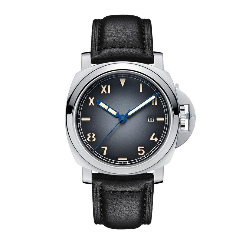 Parnis SKULL Seriers Luminous Mens Leather Watchband Fashion Automatic Mechanical Watch Wristwatch