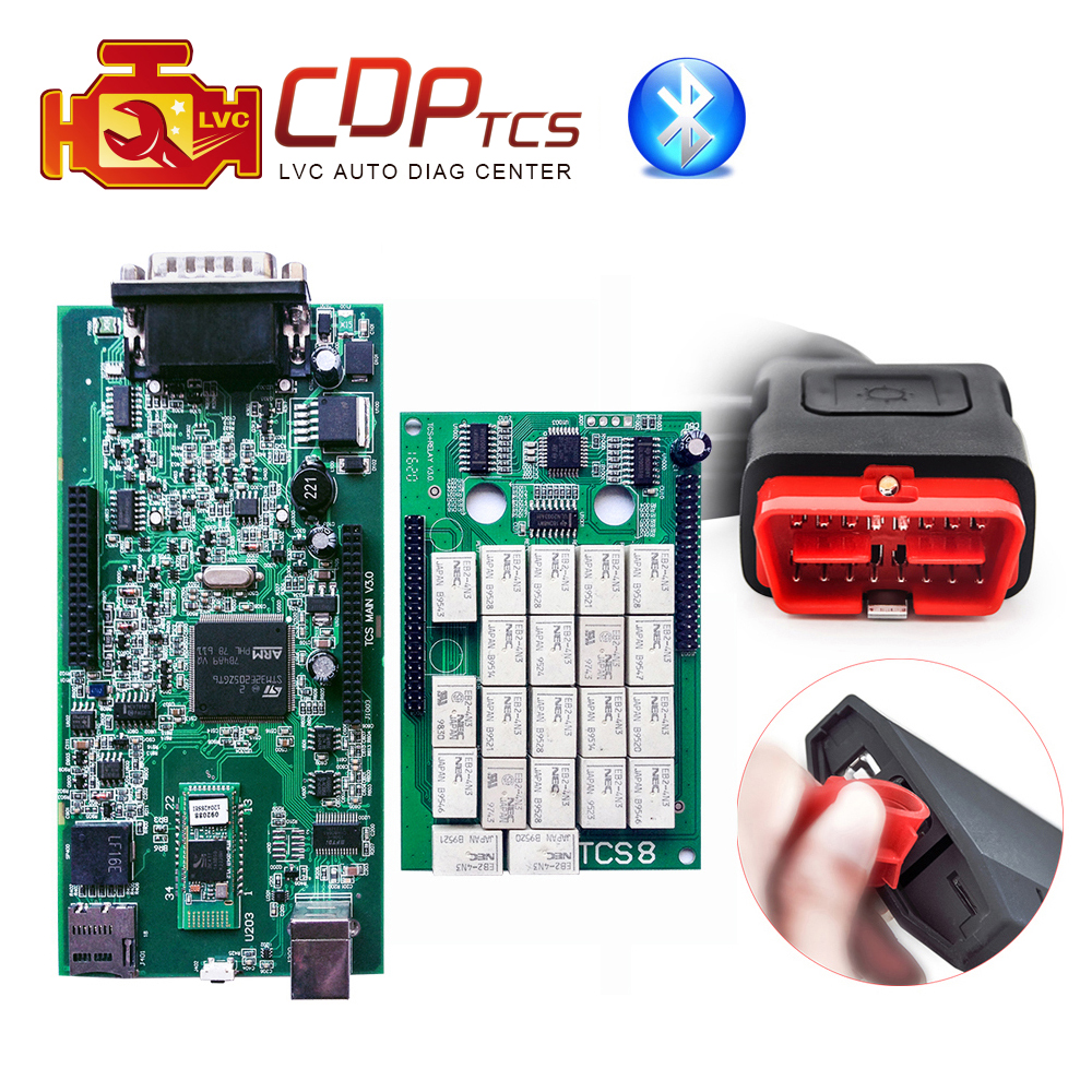 imágenes para Tablero verde CDP TCS cdp TCS PRO Plus Bluetooth 2015 R3 software keygen como Multidiag pro OBD2 escáner de coches herramienta de diagnóstico de camiones