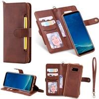 Funda abatible para Samsung Galaxy S8, lujosa Cartera de cuero desmontable, cubierta magnética para teléfono Samsung S20 Plus Note20 Ultra S9