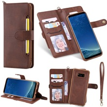 Flip Case for Samsung Galaxy S8 Luxury Detachable Leather Wallet Phone Cases Magnetic Cover for Samsung S20 Plus Note20 Ultra S9