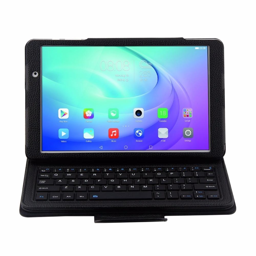 Prix pour 2 en 1 pour Huawei MediaPad T2 10.0 Pro FDR-A03L Détachable Bluetooth Clavier + Housse En Cuir Flip Horizontal avec Support