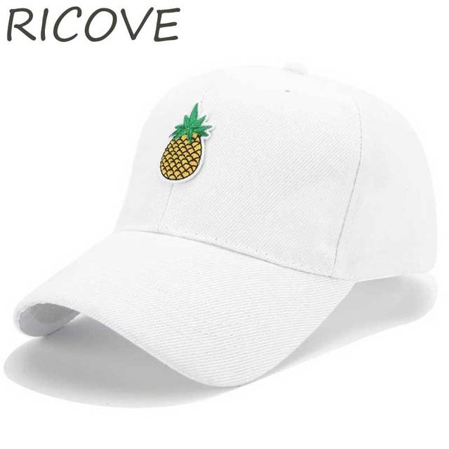 dc82bdf83da3f Pineapple Dad Hat Funny Hipster Caps Unconstructed Trucker Hats Fruit Polo Baseball  Cap Embroidery Snapback Hip Hop Hats Street
