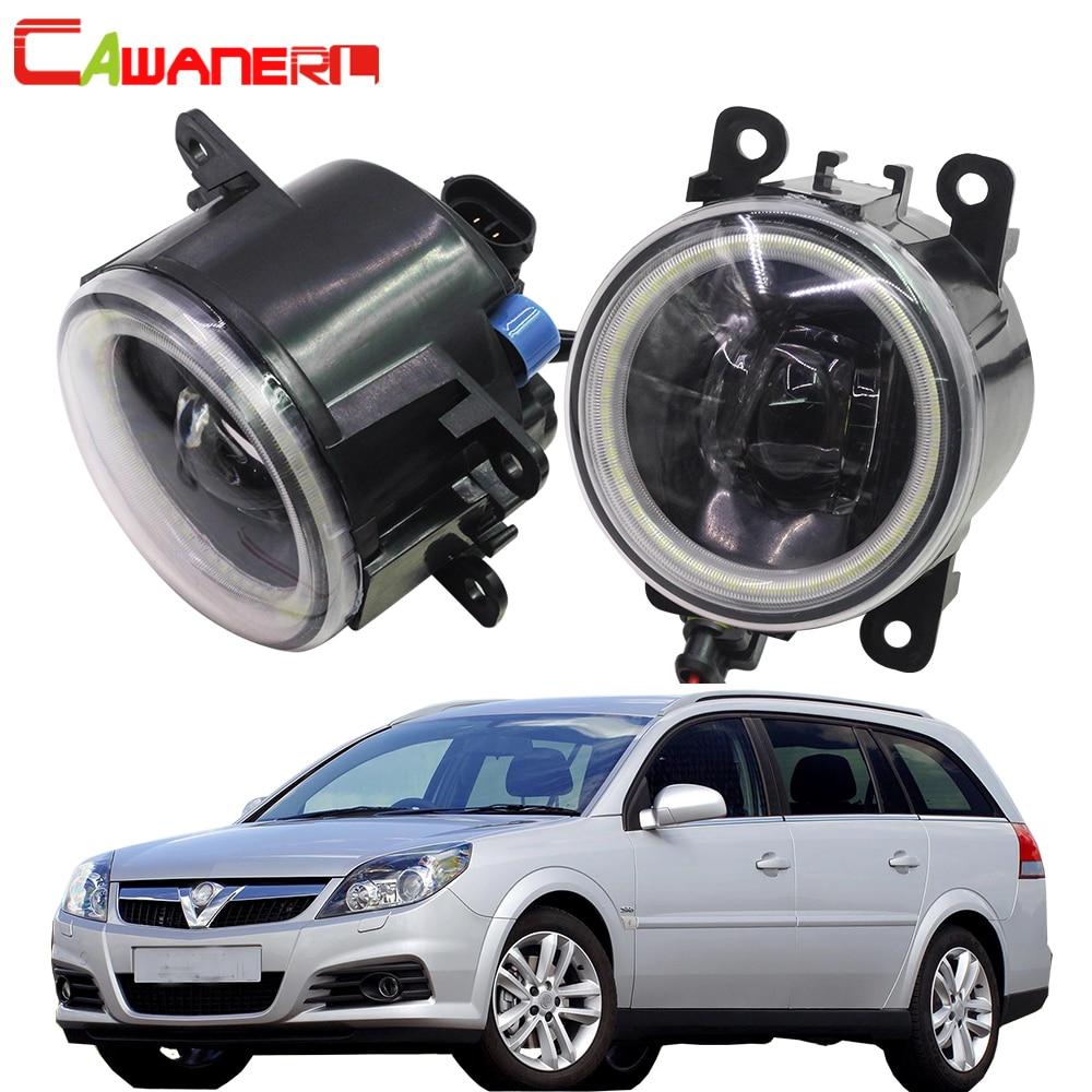 Cawanerl Car 4000LM LED Fog Light Angel Eye Daytime Running Light DRL 12V For Opel Vectra