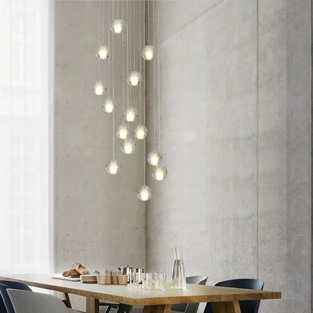Image 2 - G4 moderno led pandant luzes múltiplas escadas luminárias moda  sala de estar quarto restaurante jantar cozinha iluminaçãopandant  lightlamp fixtureskitchen light