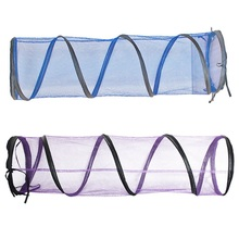 Transparent Foldable Cat Tunnel Pet Tunne Folded Outdoor Tent Playground Zipper Design Rabbit Play Toys Z