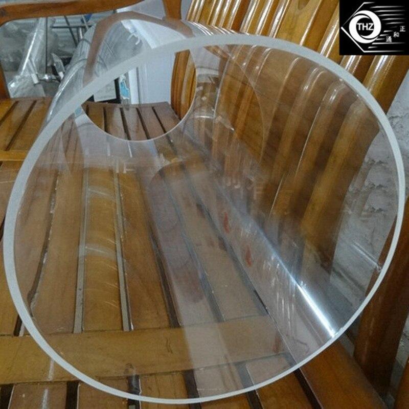 2 шт. OD800x8x1000mm акрил большой литья прозрачная трубка пластиковый строительный материал пмма водопровод и аквариум может вырезать любой разм