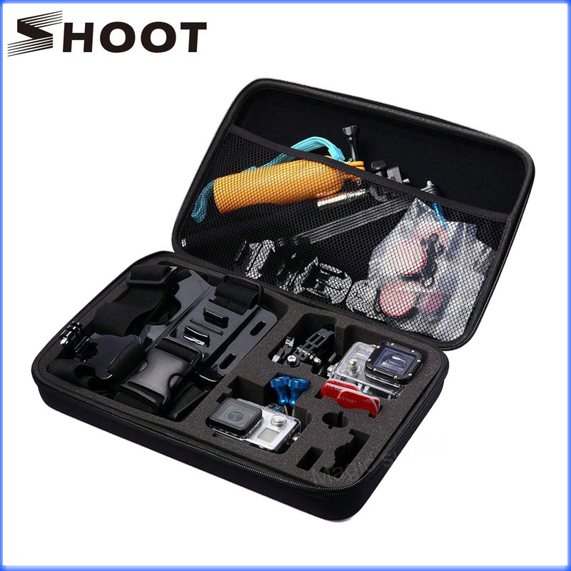 SHOOT Waterproof Camera Case Big size collection box for GoPro Hero 5/ 4/ 3+/3/2/1 gopro bag Session SJCAM SJ4000 XTGP110