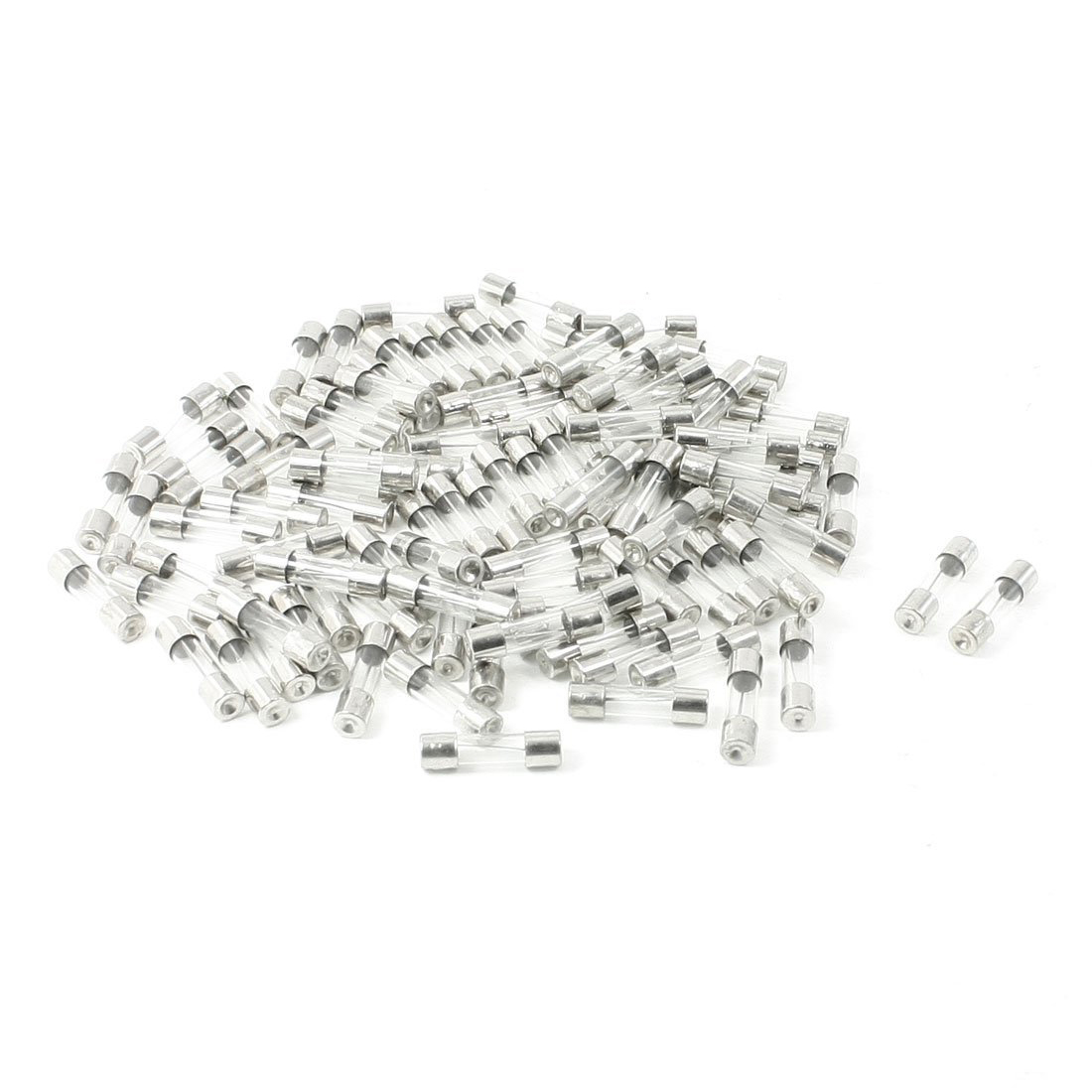 dhdl 100 pcs 250 volts 10amp fast blow type glass tube fuses 5 x 20mm