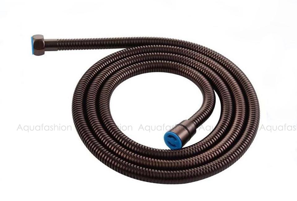 Black Shower Hose 150cm Stainless Steel Shower Tube Flexible Gold ...