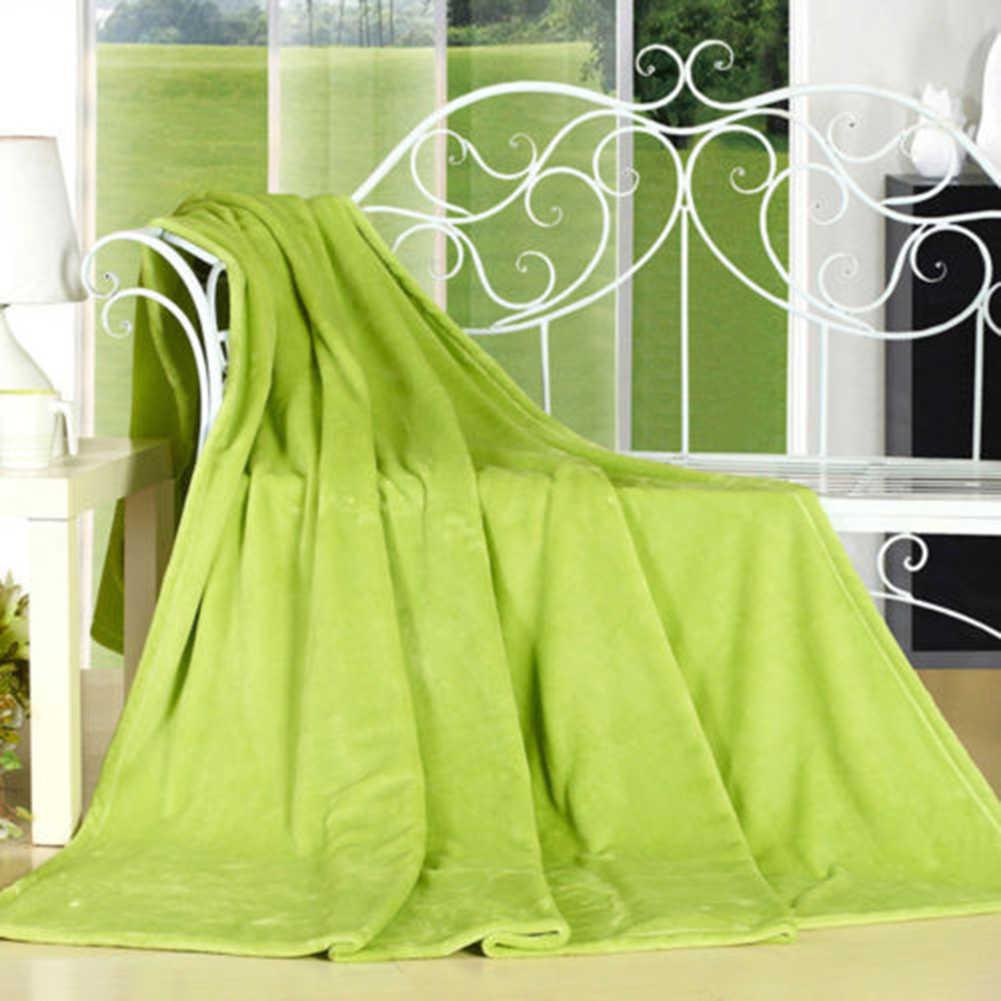 Super Macio Cor Sólida Engrossado Quente Cobertor de Flanela Sofá Tapete Do Quarto Cobertor de Flanela Xadrez Mecânica Camping Quarto
