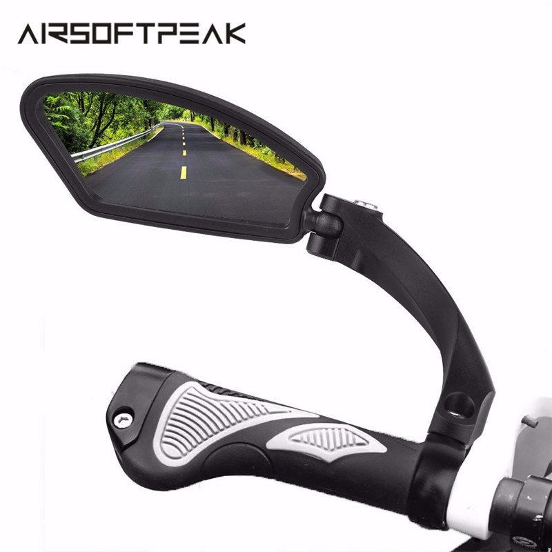 Outdoor MTB Bicycle Mirror Bike Accessories Rear View Mirror Back Eye Blind Spot Mirror Cycling Handlebar Flexible Safety Tools