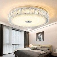 Спальня кристалл лампы Кабинет светодиодные светильники потолочные Круглый Простой современной гостиной Детская комната привело офисные