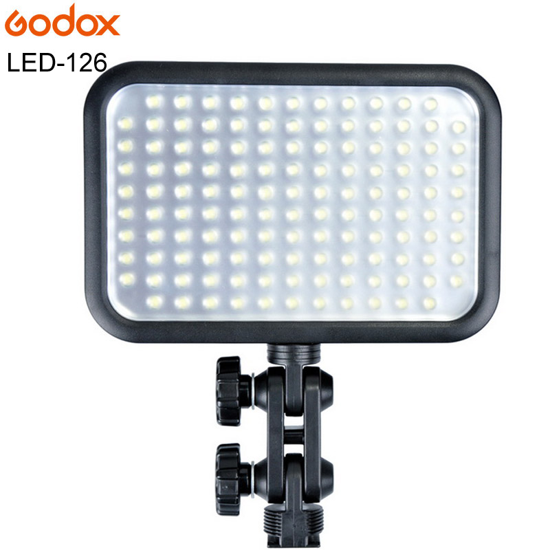Godox LED 126 LED-126 lampe vidéo pour appareil photo numérique caméscope DV Canon Nikon Sony Pentax Olympus Panasonic