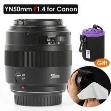YONGNUO YN50mm F1.4 Standard Prime Lens Large Aperture Auto Focus Lens for Canon EOS 1300D 1200D 1100D 1000D 850D 5DIV 5DIII 5DS