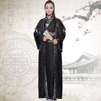 2016 New Chinese Folk Dance Straight Cloak Clothing Hanfu Women Ancient Costume Chivalrous Knight Errant Female Scholar.