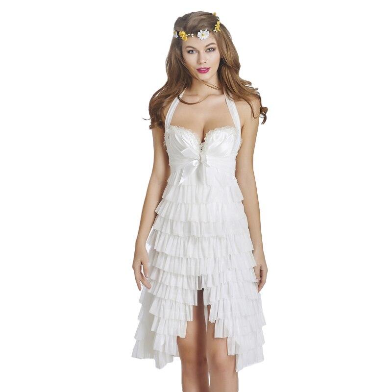 White corset dress all dress for Leather wedding dresses black