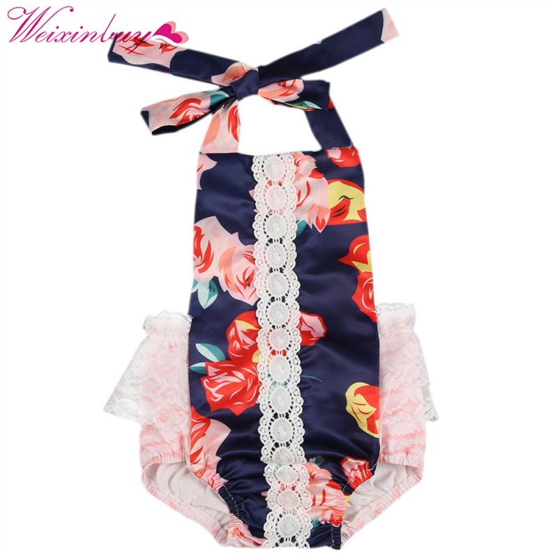 8dfcaa1a814 New Newborn baby girls clothes vintage floral girls jumpsuit High Quality  kids christmas style boutique clothing hot sale romper