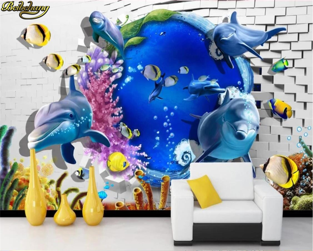 Beibehang Custom Photo Wallpaper Mural 3D Sea World Art Wall Background Wall Papers Home Decor Papel De Parede 3d Para Sala