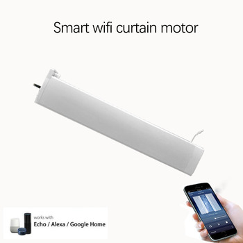 Smart Electric Motor Tuya APP,Smart Home Wifi Curtain Motor Remote/voice control work with Alexa/google home For Ios Android