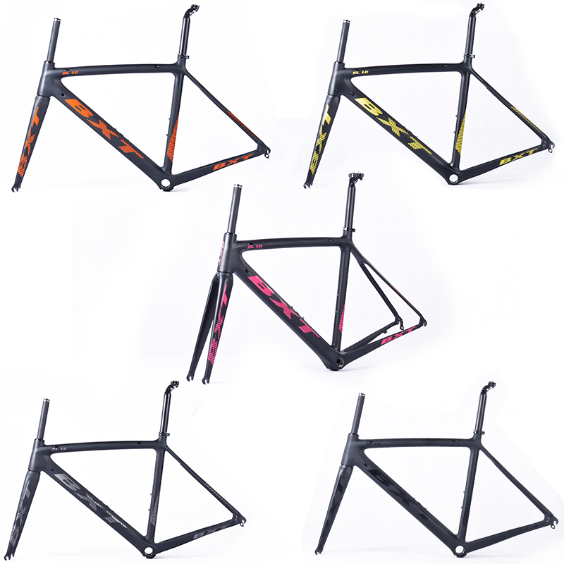 Carbon Road Bicycle Frame + Fork + Seat Post Carbon Fiber Toray T800 UD Matte Bike Frame Suitable 700c Wheels Tapered Integrated c 程序设计(附光盘1张)