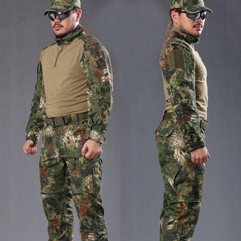 38eb1a44ea6 Aliexpress.com: Comprar Hombre serpiente camuflaje militar uniforme ejército  equipo SWAT combate táctico Airsoft traje camisas ropa de caza de  camouflage ...