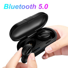HANTOPER Invisible Bluetooth Earphones 5.0 TWS Mini Wireless Headphones Earbuds Stereo Bass Headset with charging box Portable(China)