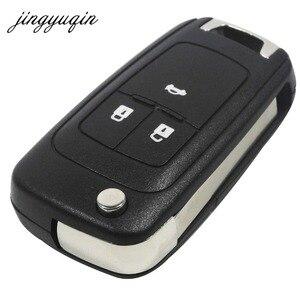 Image 2 - Jingyuqin 20 Stks/partij 2/3/4/5 Knoppen Flip Folding Autosleutel Shell Voor Chevrolet Cruze Remote Key Case keyless Fob Ongecensureerd HU100 Blade