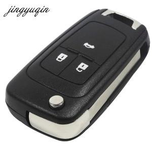 Image 2 - jingyuqin 20pcs/lot 2/3/4/5 Buttons Flip Folding Car Key Shell for Chevrolet Cruze Remote Key Case Keyless Fob Uncut HU100 Blade