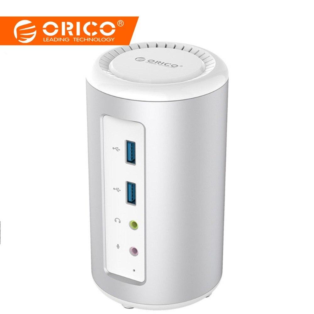 ORICO USB3.0 универсальный док-станция для ноутбука USB 3,0 HUB 4 K преобразователь аудиосигнала HDMI с RJ45 для ноутбука Поддержка зарядка PD