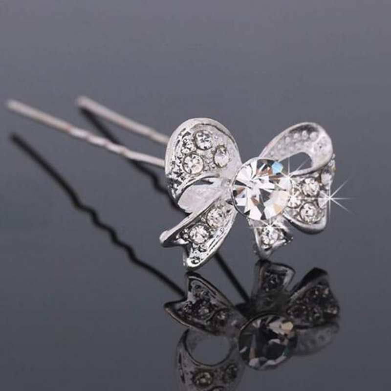 New Elegant Lady Hair Clips 5Pcs U Shape Hair Sticks Hairpin Bridal Wedding Bridesmaid Hair Accessories
