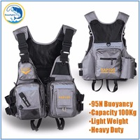 Quality 95N Buoyancy Fishing Life Vest Men Breathable Life Jacket Safety Waistcoat Survival Utility Vest Colete Salva Vidas