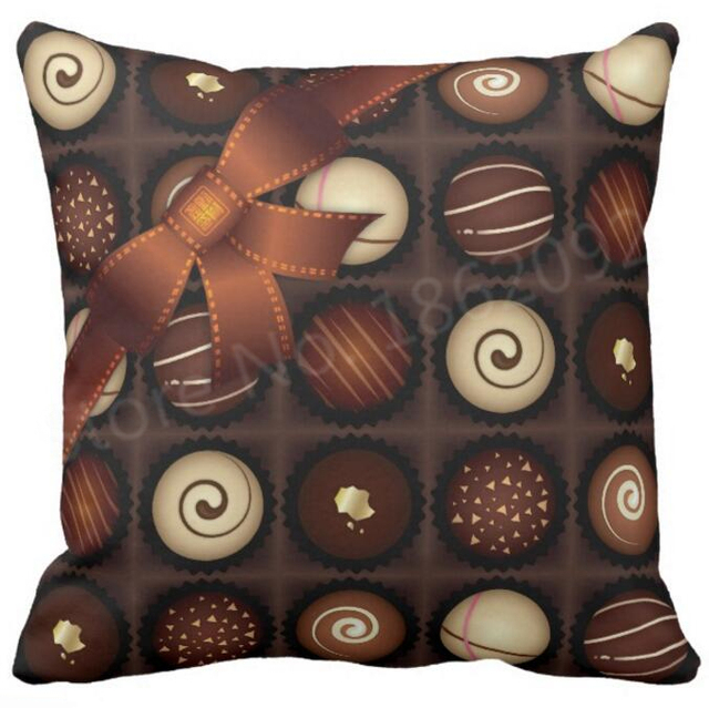 Cool Chocolate Design Cushion Cover Novelty Chocolate Box Throw