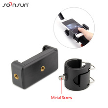 SOONSUN APP Cell Mobile Phone Holder Clip Adapter Mount Phone Mount for GoPro Hero 7 6 5 4 Camera 3 Way Grip Arm Tripod Bracket