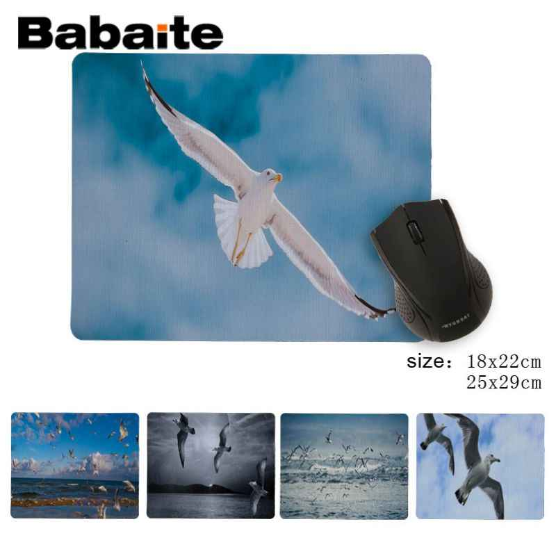 Babaite  Seagull Customized laptop Gaming mouse pad Fashion Computer Mousepad Gaming Mouse Mats