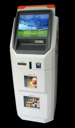Self Service ATM Payment Kiosk,wifi Payment Terminal, LCD Touch Terminal Display With Digital Photo Printing Kiosk