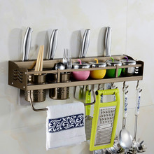 Kitchen Organizer Cooking Utensil Tools Hook Rack Metal Racks Knives Tableware Storage Wall